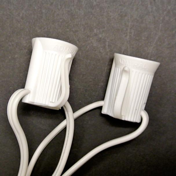"""C9 Custom Length String Light - 48"""" spacing White"""