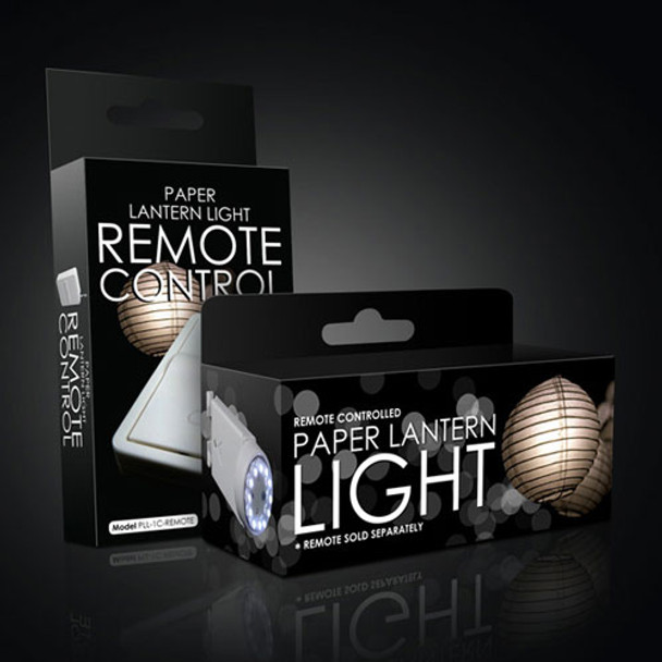 Remote Controlled LED Battery Operated Lantern Light Kit Packaging