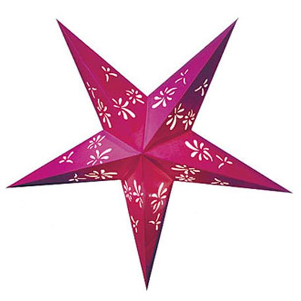 Fuchsia Star Paper Lantern