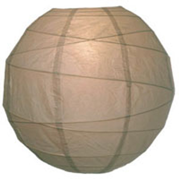 Latte Brown Paper Lantern 14 in.