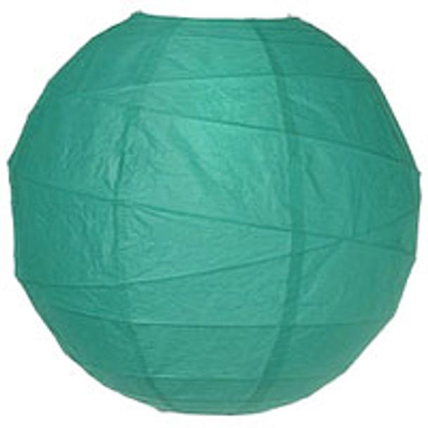 Teal Green Paper Lantern 14 in.