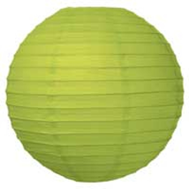 Chartreuse Green Paper Lantern 8 in.