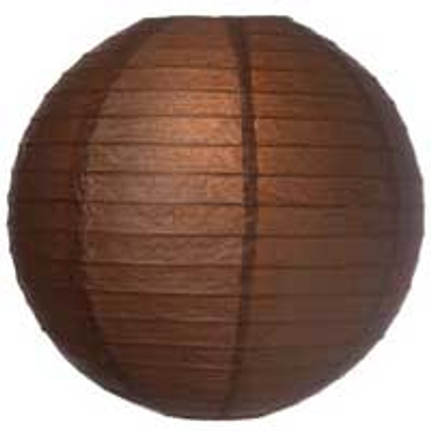 Chocolate Brown Paper Lantern 8 in.