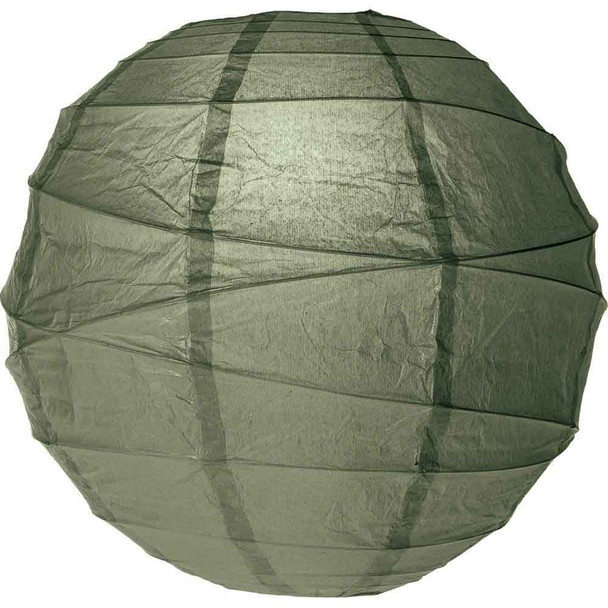 Army Green Paper Lantern 10 in.
