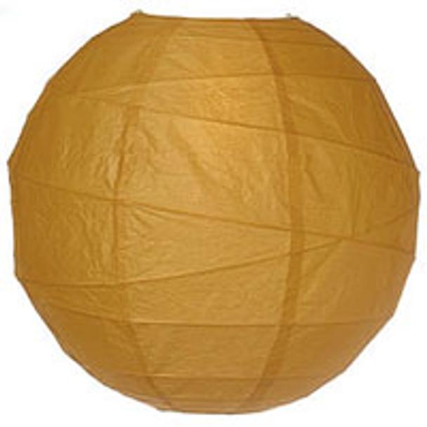Butterscotch Brown Paper Lantern 10 in.