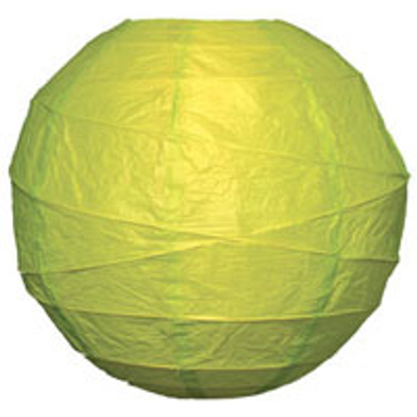 Chartreuse Green Paper Lantern 10 in.