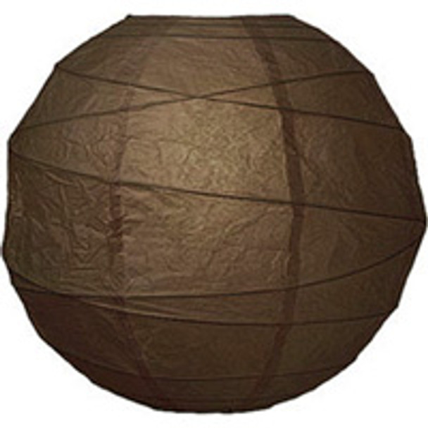 Chocolate Brown Paper Lantern 10 in.