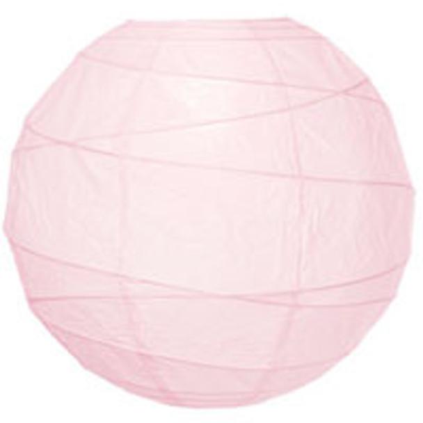 Rose Quartz Pink Paper Lantern 10 in.
