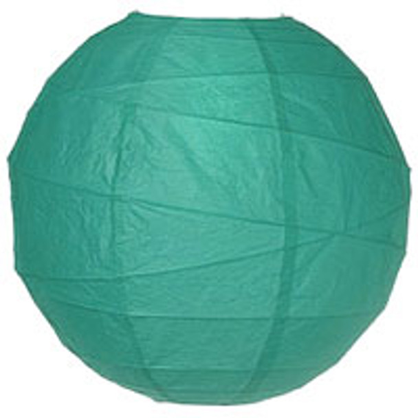 Teal Green Paper Lantern 10 in.