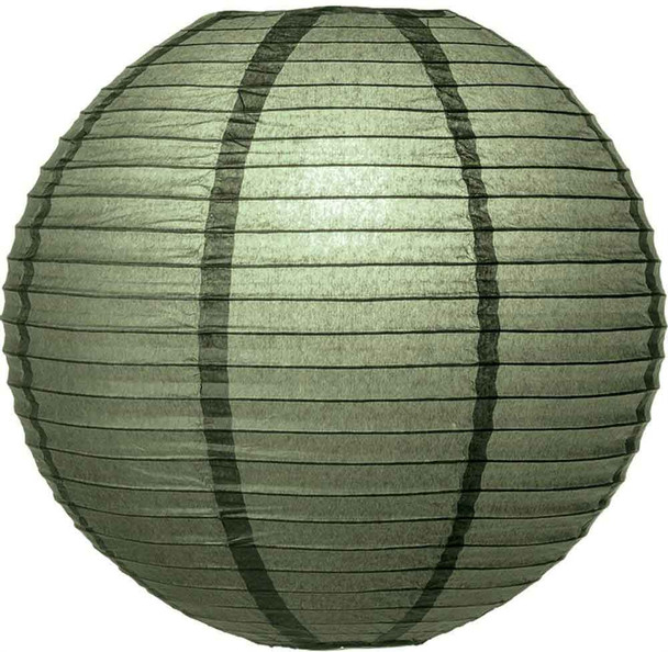 Army Green Paper Lantern 12 in.