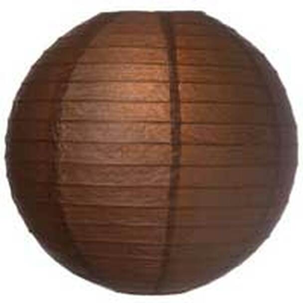 Chocolate Brown Paper Lantern 12 in.