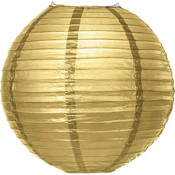 Gold Paper Lantern 12 in.