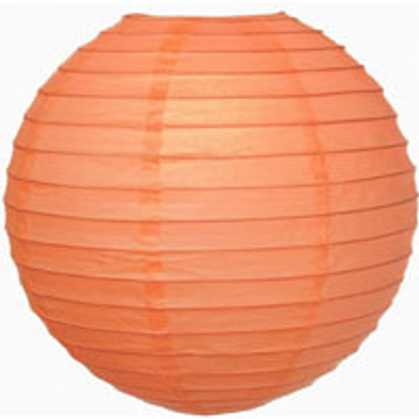 Coral Pink Paper Lantern 16 in.
