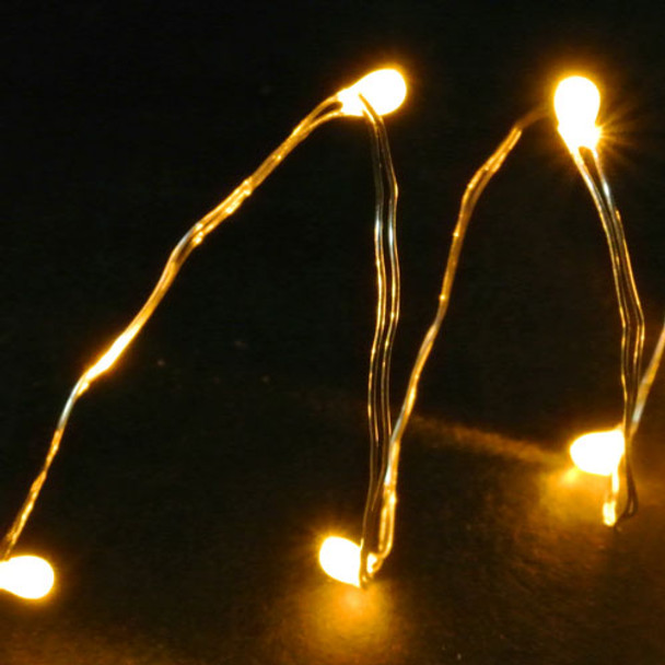 Battery Operated Fairy Wire Lights, Yellow