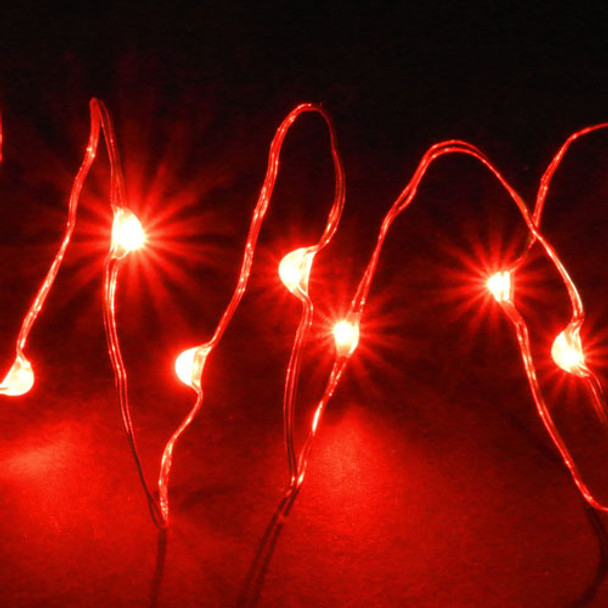 Battery Operated Fairy Lights, Red
