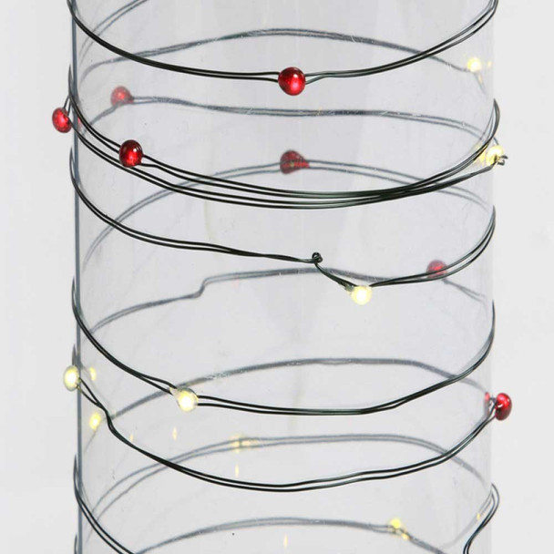 Red & White Fairy Lights - Battery Operated