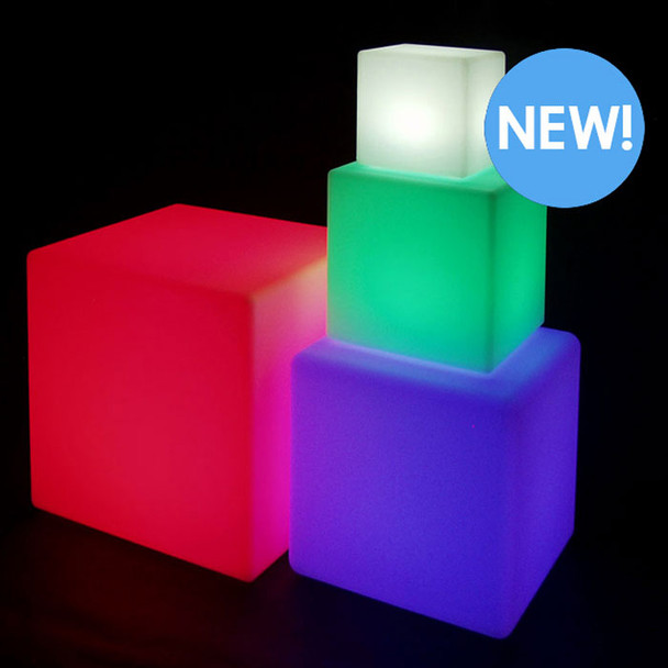 "8"" LED Color Changing Light Cube group"
