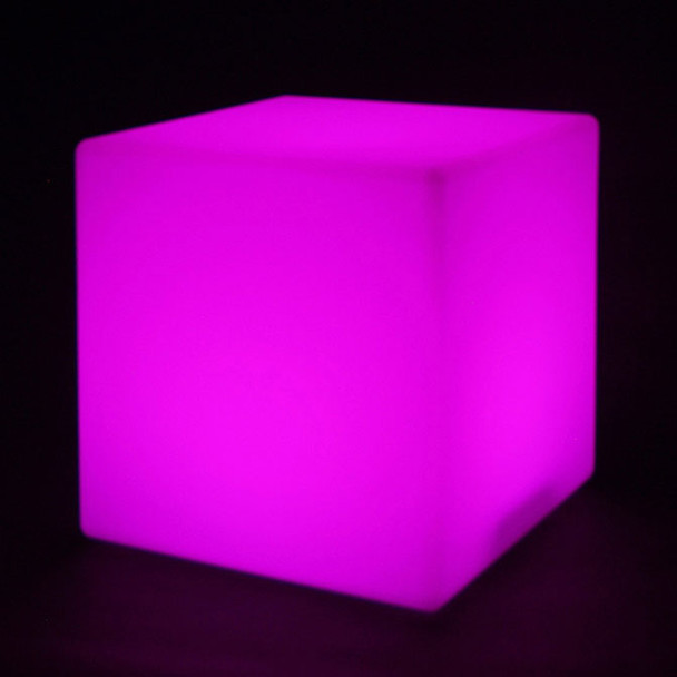 """12"""" LED Color Changing Light Cube lit purple"""