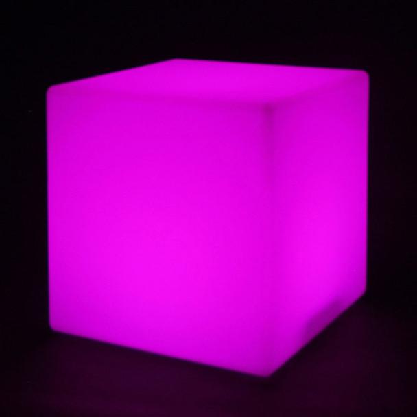 LED Color Changing Light Cube lit purple