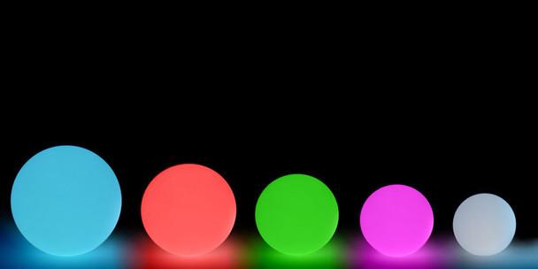 LED Light Orb sizes