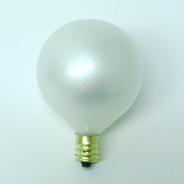 G50 White Satin Bulbs - C7 Base single