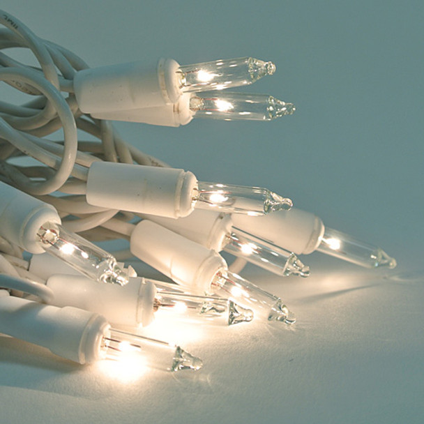 Clear Mini Lights with White Cord - 20 Lights