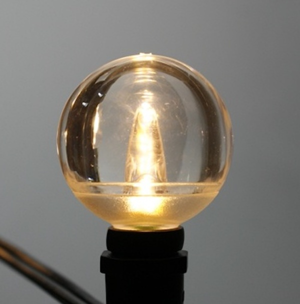 Smooth LED G40 Bulb, Warm White, C7 base