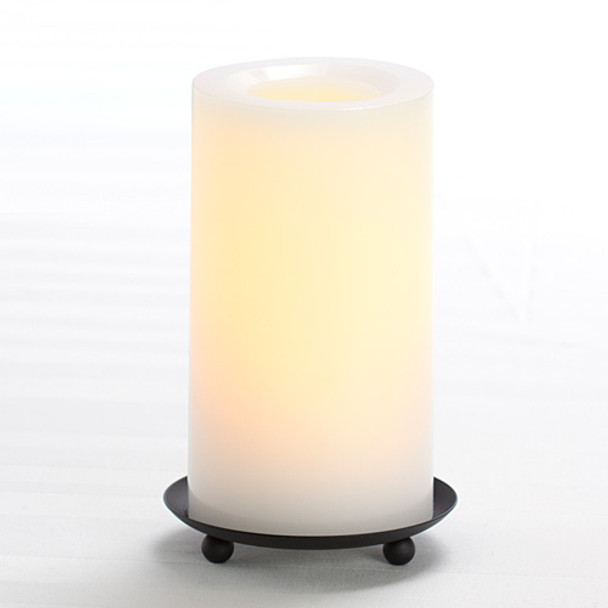 "Wax Pillar Battery Operated Candle - 6"" White"