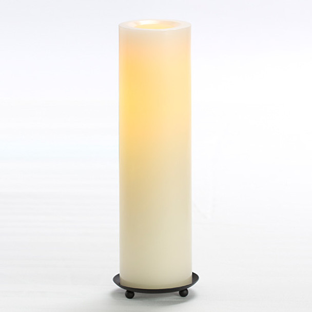 """Wax Pillar Battery Operated Candle - 12"""" Cream"""