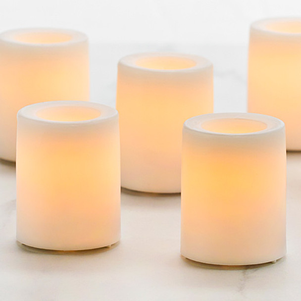 Battery Operated Votive Candle - White