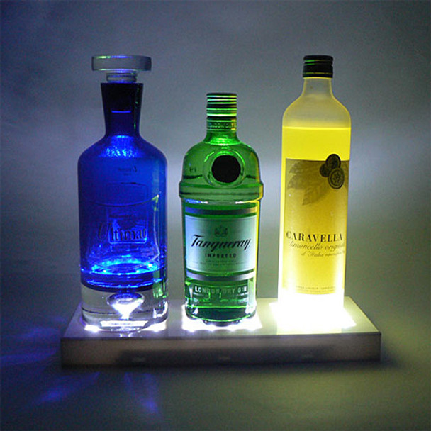5x13 Rectangle Light Base, White (bottles)