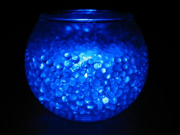 LED Submersible Floralyte, blue (vase example)