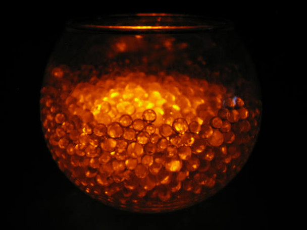 LED Submersible Floralyte, orange (vase example)