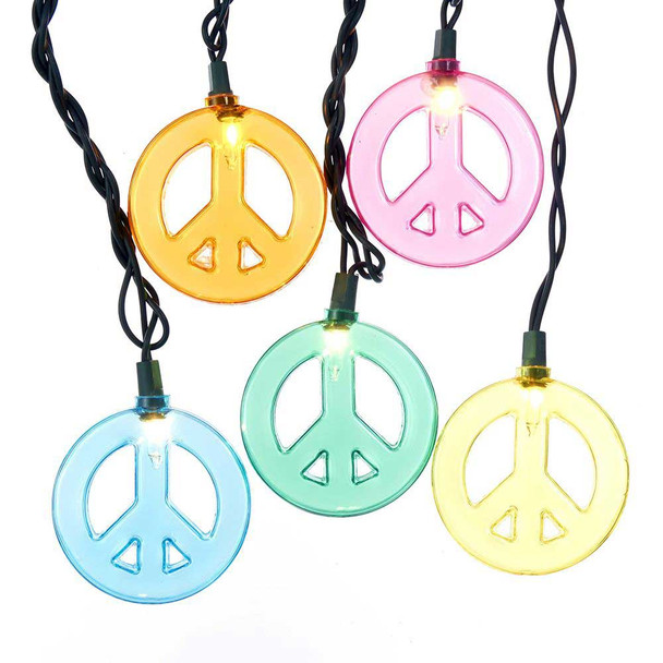 Peace Sign String Lights