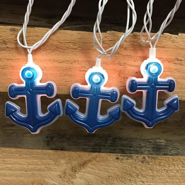 Anchor String Lights lit