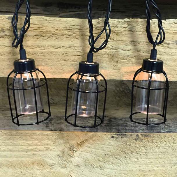 Vintage Cage String Lights (lit)