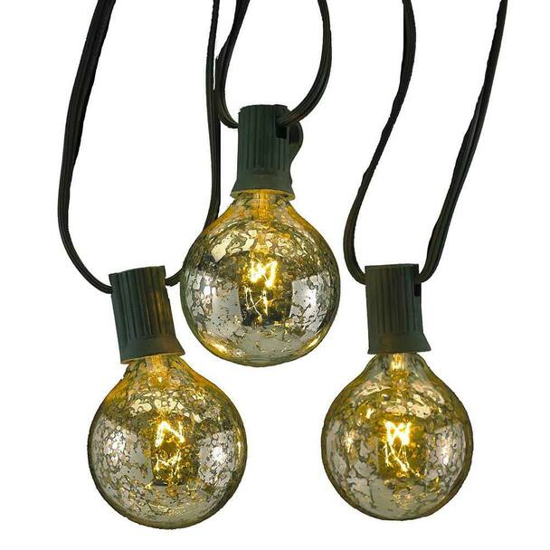 Silver Coated G50 Globe String Lights