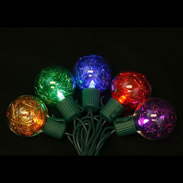 LED G40 Tinsel Globe String Lights