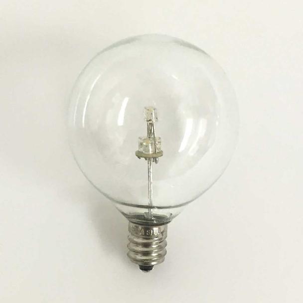 Premium LED G50 Bulb, Warm White, C7 E12 base (unlit)