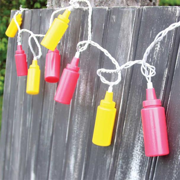 Ketchup and Mustard String Lights