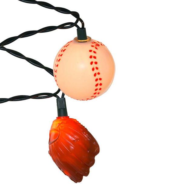 Baseball & Glove String Lights side view