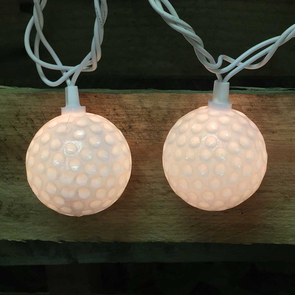 Golf Ball String Lights lit