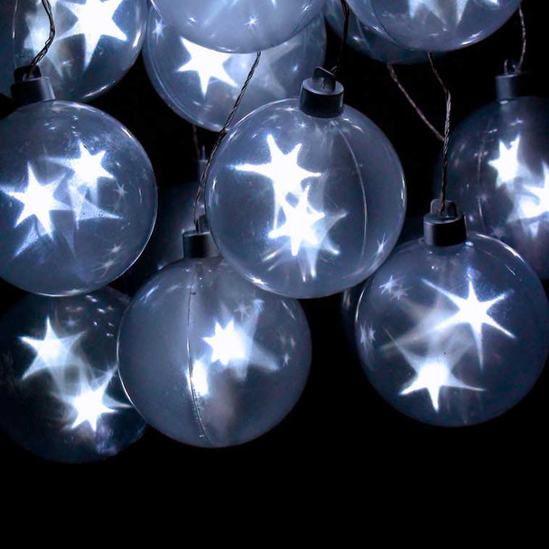 Star Sphere Battery Operated String Lights