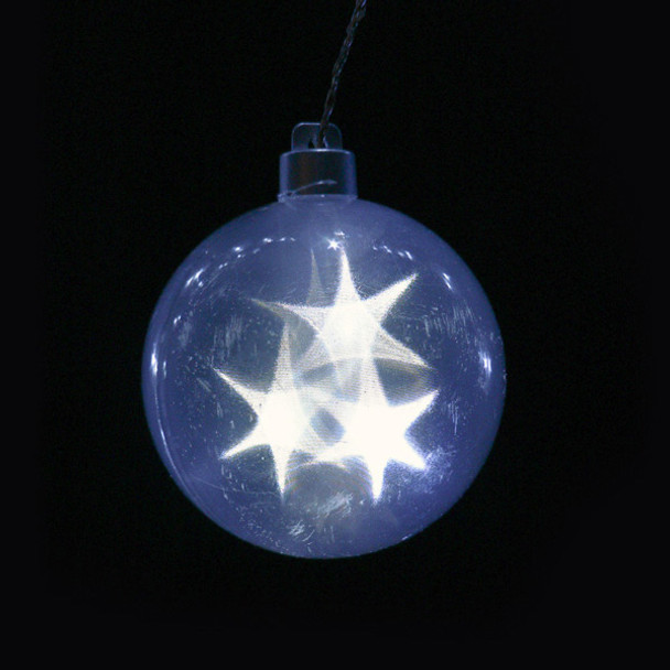 Star Sphere Battery Operated String Lights Closeup