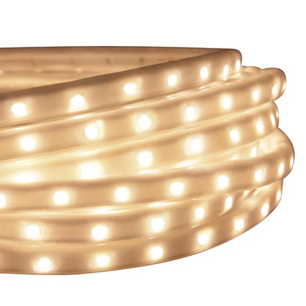 LED Tape Rope Hybrid Lights - 150 ft Warm White