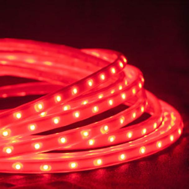 LED Tape Rope Hybrid Lights - 19 ft Red
