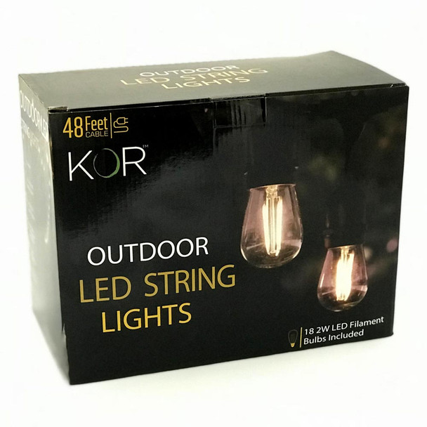 LED Outdoor String Lights Box