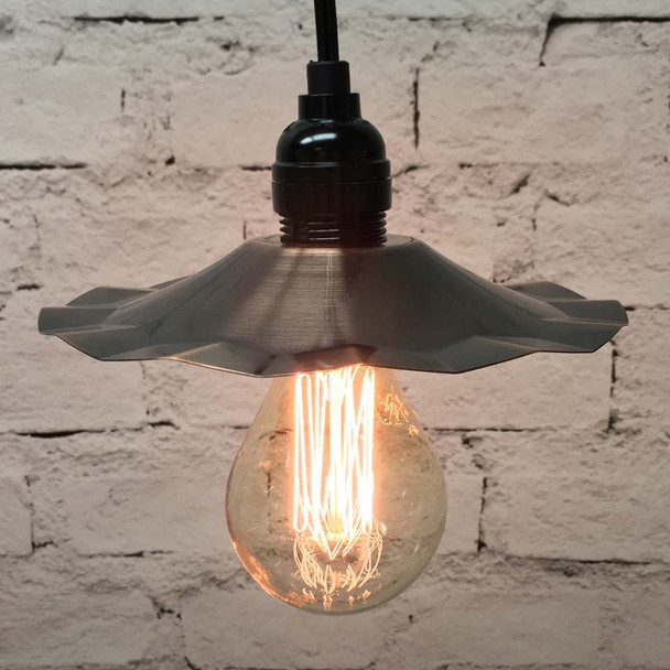 Pendant Light Set with Copper Shade & A75 Vintage Edison Bulb