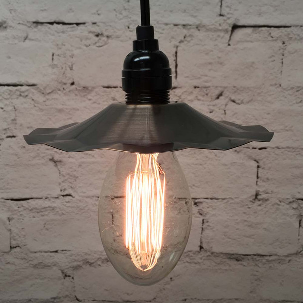 Pendant Light Set with Copper Shade & E75 Vintage Edison Bulb