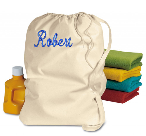 College Laundry Bags Beige